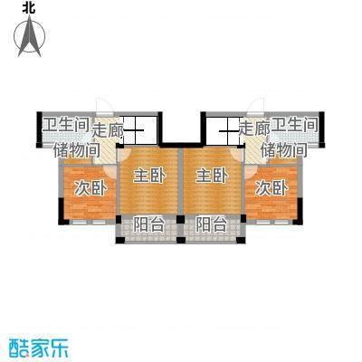 西溪山庄92.84㎡16#17#18#楼跃层中间二层户型10室