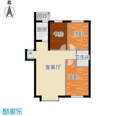 自由花园105.95㎡8号、11号楼b户型3室1厅1卫1厨