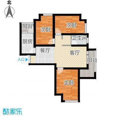 @北京91.98㎡D3户型3室1厅1卫1厨