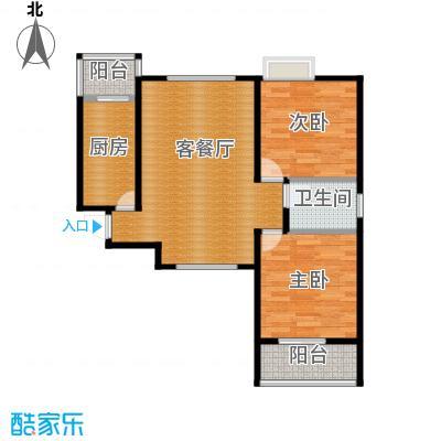中兴和园71.73㎡4#1单元-04-B7二室户型2室1厅1卫1厨