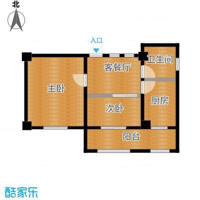 天伦中央广场70.68㎡C户型2室1厅1卫