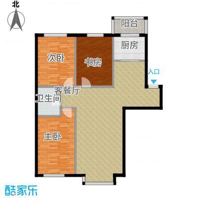 自由花园119.30㎡2号楼b户型3室1厅1卫1厨