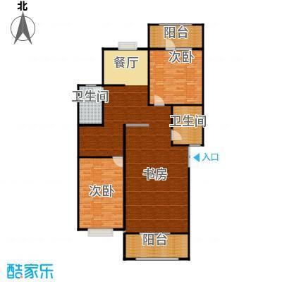 我的家园185.32㎡-上层户型3室2卫