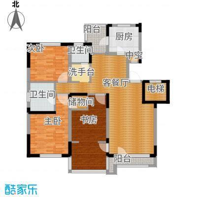 中海金域中央140.00㎡B户型3室1厅2卫1厨