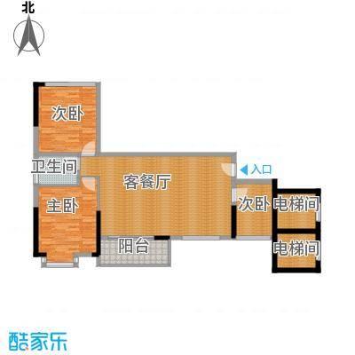 兆阳御花园90.47㎡7座A(01)单位户型3室2厅1卫