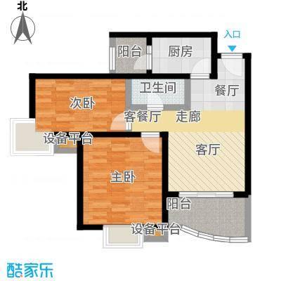 上上城青年社区二期上上城青年社区二期户型图B3-2两室两厅一卫(205/240张)户型10室