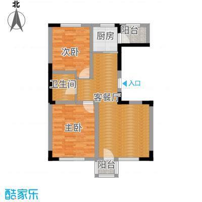 绿地新里中央公馆85.00㎡11栋02户型2室1厅1卫1厨