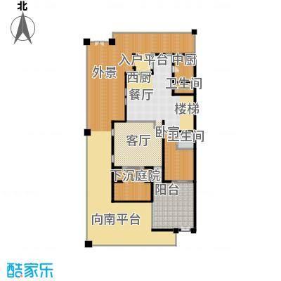 中信净月山278.00㎡院居首层平面图户型1室2厅