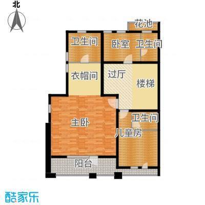 中信净月山278.00㎡院居二层平面图户型3室1厅2卫