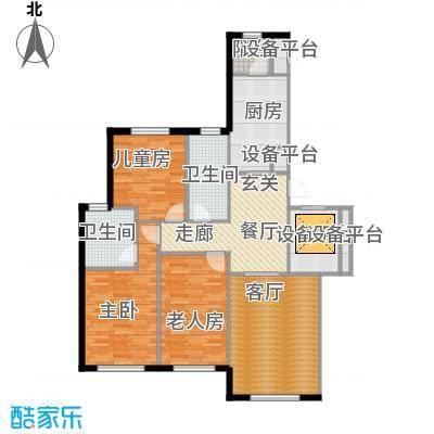 伟峰东樾125.00㎡瞰景小高层-C3户型3室1厅2卫1厨