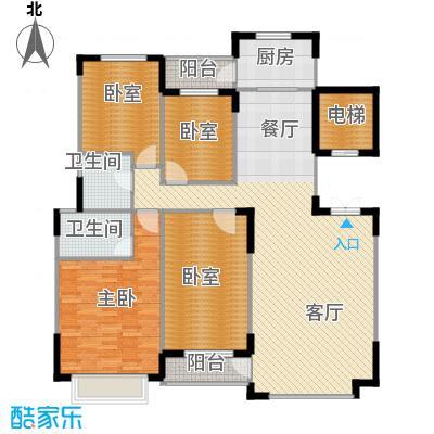 中信城163.74㎡枫丹白露11#地5#标准层户型4室2厅2卫
