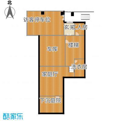 中信城399.00㎡山居负首层户型1室1厅1卫