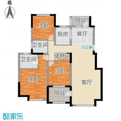 中信城135.75㎡枫丹白露三期37、39、40#楼户型3室2厅2卫