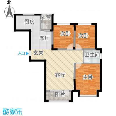 中信城109.56㎡枫丹白露2#、3#楼03户型3室2厅2卫