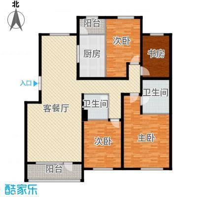 华业玫瑰谷别墅171.00㎡h12、15栋华景洋房户型3室2厅2卫
