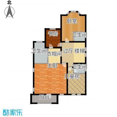 中信净月山399.00㎡山居二层平面图户型3室1厅3卫