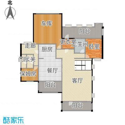 华业龙玺别墅487.00㎡DL4一楼平面图户型10室