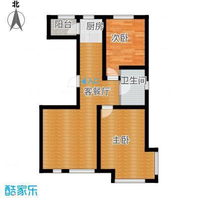 绿地新里中央公馆92.41㎡A2栋a户型2室1厅1卫