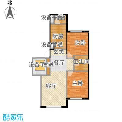 伟峰东樾97.00㎡瞰景小高层-C2户型2室1厅1卫1厨
