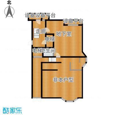 华瀚净月公馆220.00㎡叠拼C1地下一层户型4室2厅3卫