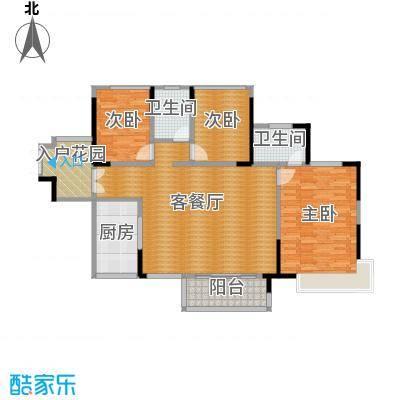 依云上城89.00㎡13座01/02单元6-25层标准层平面图户型3室1厅2卫1厨
