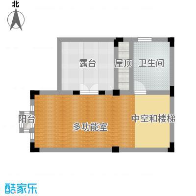 国信美邑57.79㎡D-4三层平面示意图户型1室1厅1卫