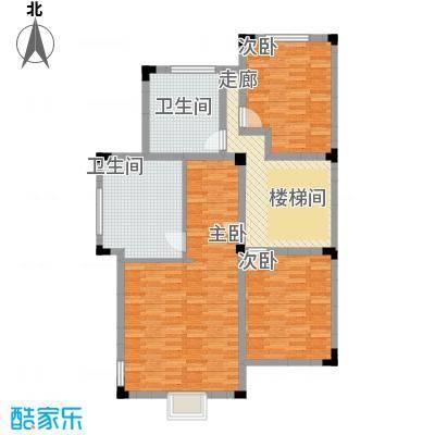 国信美邑103.06㎡A-3二层平面示意图户型3室1厅2卫