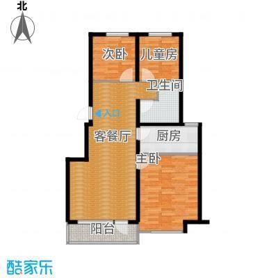 中信城98.00㎡枫丹白露三期31、32、36、37、39、40#楼户型3室2厅1卫