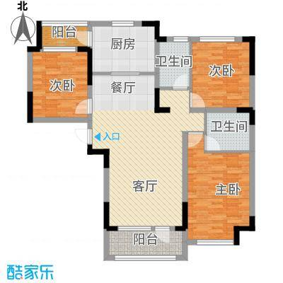 中信城120.00㎡枫丹白露三期10、18、25、35、38#楼户型3室2厅2卫
