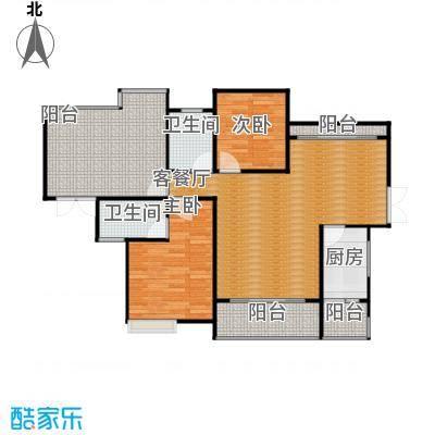 星汇国际公馆113.22㎡2座02单位户型2室1厅2卫1厨
