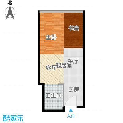 西子中心46.00㎡房型户型