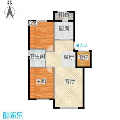伟峰东樾95.00㎡瞰景小高层-C1户型2室1厅1卫1厨