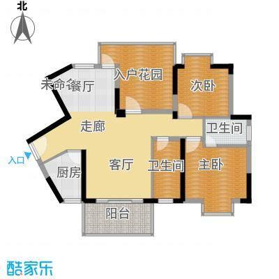 丰泽园96.78㎡标准层F3户型2室2卫1厨
