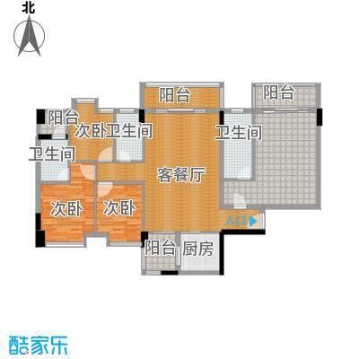 大步海滨花园三期147.15㎡3号楼标准层01单元03户型4室2厅3卫
