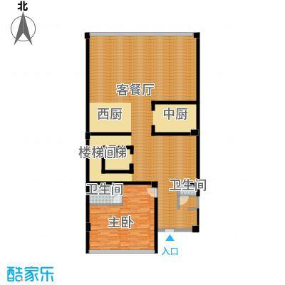 万科松湖中心159.48㎡一层示意图户型8室6厅7卫