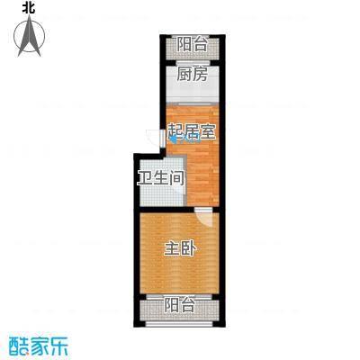华瑞园中园43.50㎡户型10室