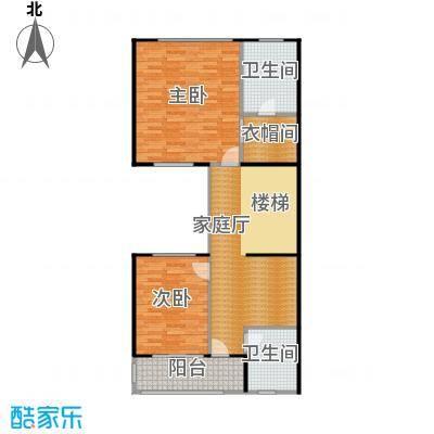 鼎峰尚境95.53㎡环山别墅I组团C第二层户型2室2卫