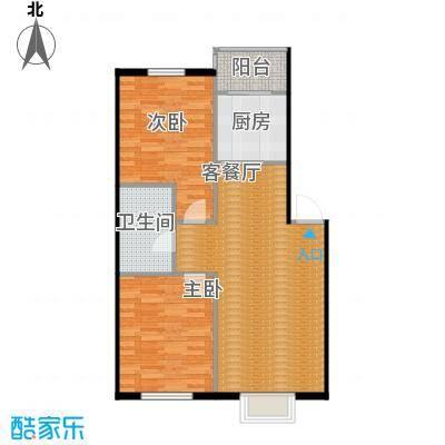 百荷湾88.00㎡L户型10室