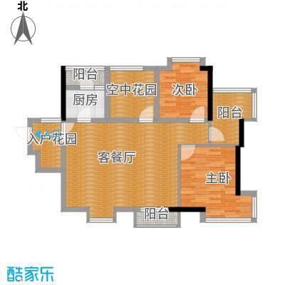 鼎峰尚境86.00㎡4栋01单位户型2室2厅1卫