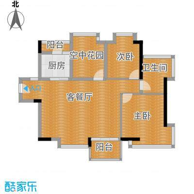 鼎峰尚境88.00㎡3栋02单元户型3室2厅1卫