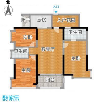 鼎峰尚境121.00㎡1栋01/02单元02+0户型3室2厅2卫