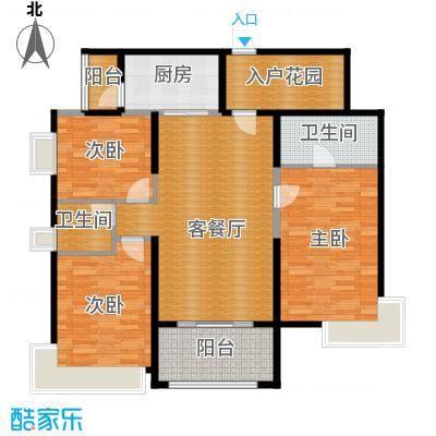 鼎峰尚境121.00㎡1栋户型3室2厅2卫