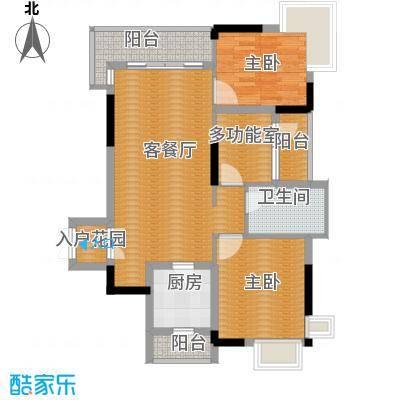 鼎峰尚境87.00㎡6栋小户型3室2厅1卫