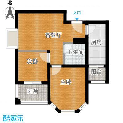 百隆东外滩花园56.27㎡C方户型10室