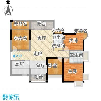 香缤雅苑118.00㎡户型1室2卫1厨