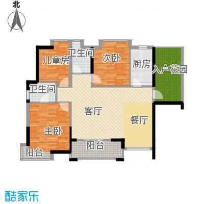鼎峰花漫里119.00㎡3栋1单元01、3栋2单元02户型3室2厅2卫