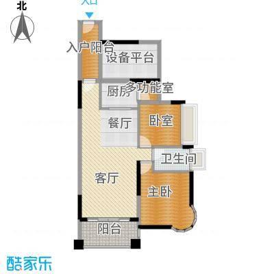 香缤雅苑85.00㎡户型1室1厅1卫1厨