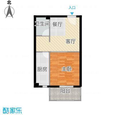 香公馆54.41㎡R户型1室1厅1卫