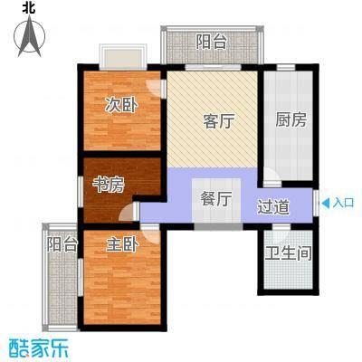 上水观园128.74㎡C户型3室2厅1卫