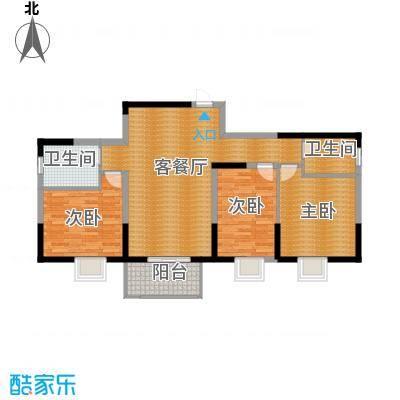 大唐新干线95.31㎡E栋C户型10室